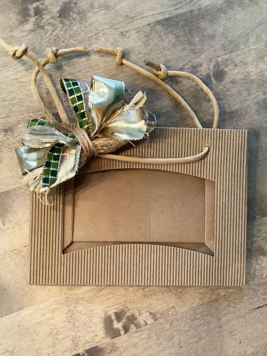 Geschenkverpackung 2er Tragetasche mit Sichtfenster Senf/Tapenade/Oliven
