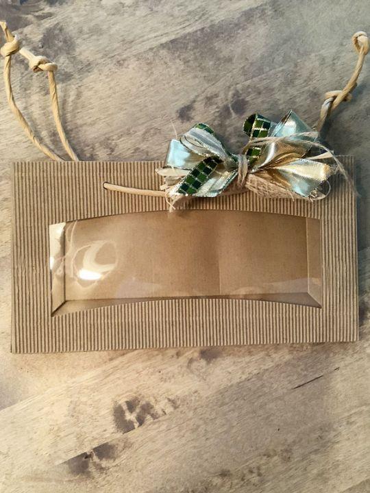 Geschenkverpackung 3er Tragetasche mit Sichtfenster Senf/Tapenade/Oliven