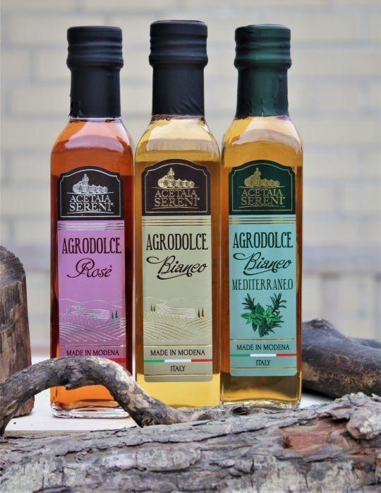 """Aceto Balsamico """"Trio"""" - Condimento Alimentare Agrodolce - 3x250ml"""