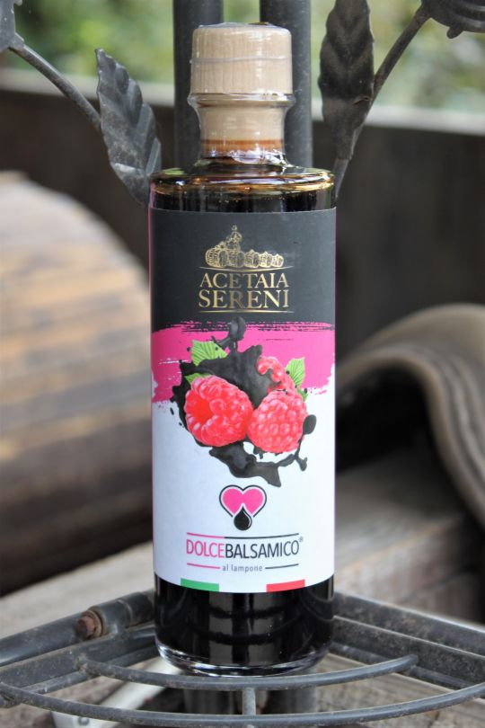 """Aceto Balsamico """"Himbeere"""" - Condimento alimentare aromatizzato al lampone - 250ml"""