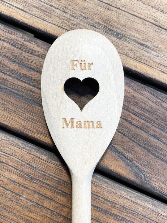 Holz-Kochlöffel Mama