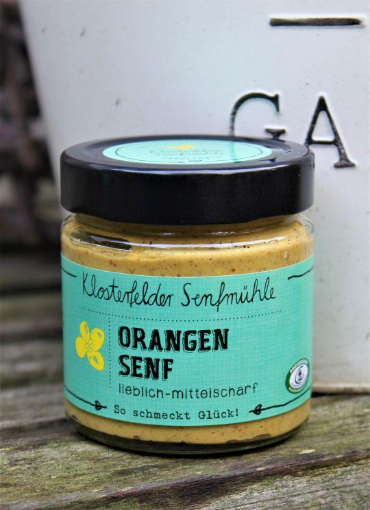 Orangen Senf - lieblich/mittelscharf- 190 ml MHD 10.12.2021