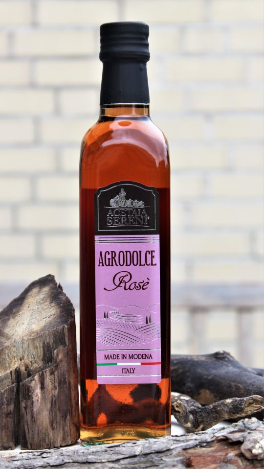 "Aceto Balsamico ""Rosé"" - Condimento Alimentare Agrodolce - 500ml"